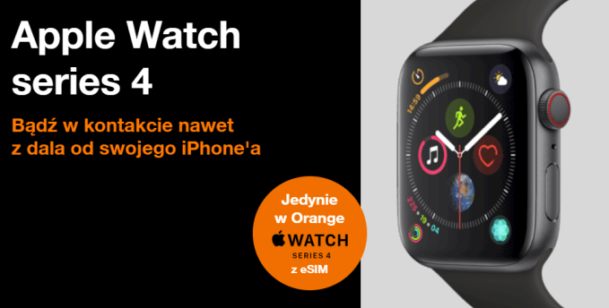 Apple Watch Series 4 z eSIM w Orange Polska