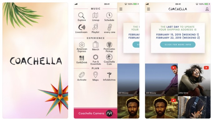 Aplikacja mobilna Coachella 2019 Official (screen)