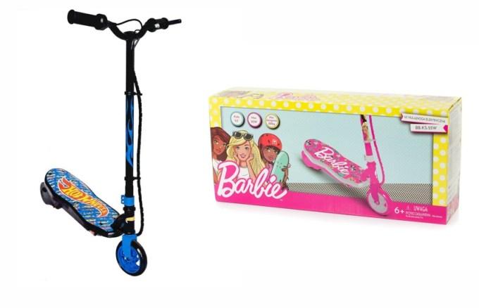 Hulajnogi Barbie i Hot Wheels