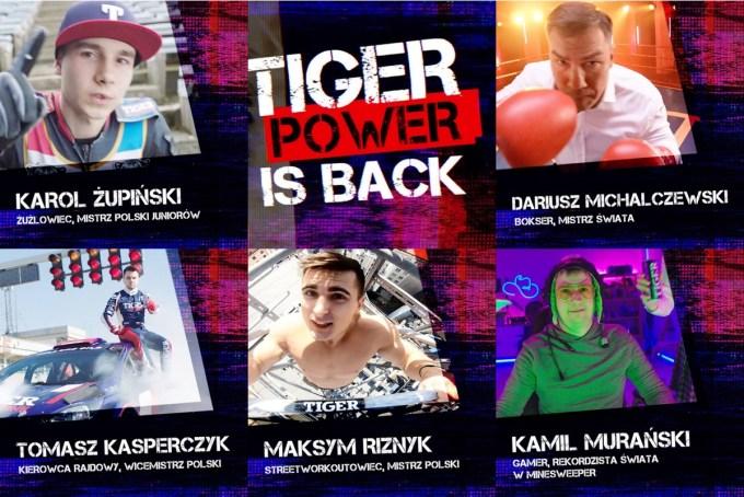 Sylwetki mistrzów w kampanii napoju Tiger