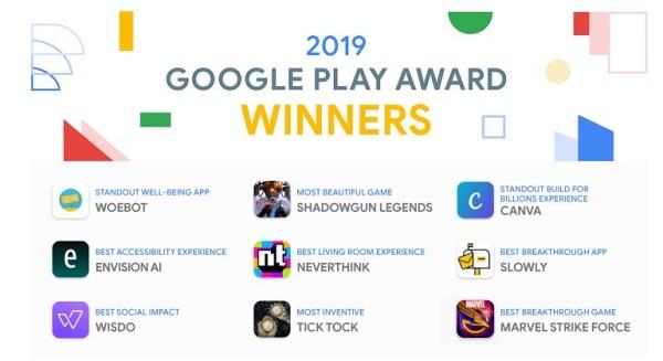 Poznaj zwycięzców nagród Google Play Award 2019