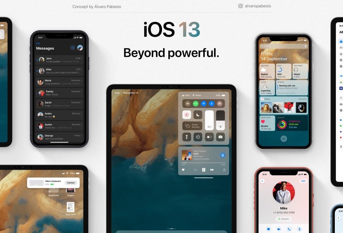 Koncepcja systemu iOS 13 (fot. Álvaro Pabesio)