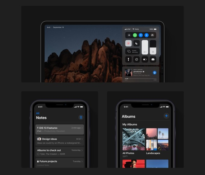 iOS 13 – Dark Mode (fot. Álvaro Pabesio)