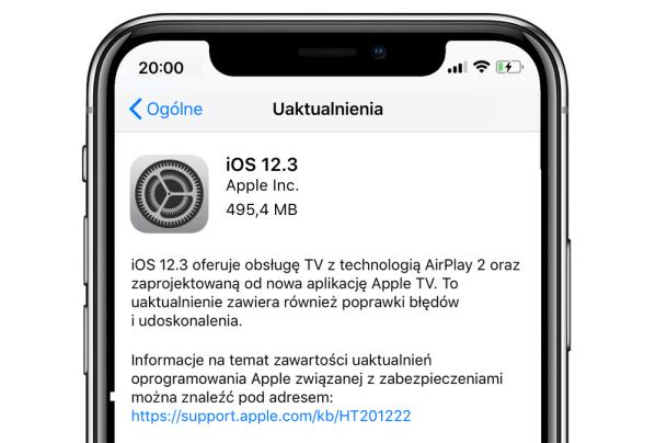 Finalna wersja systemu iOS 12.3 gotowa do pobrania
