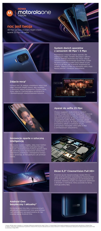 Karta produktowa: Motorola One Vision