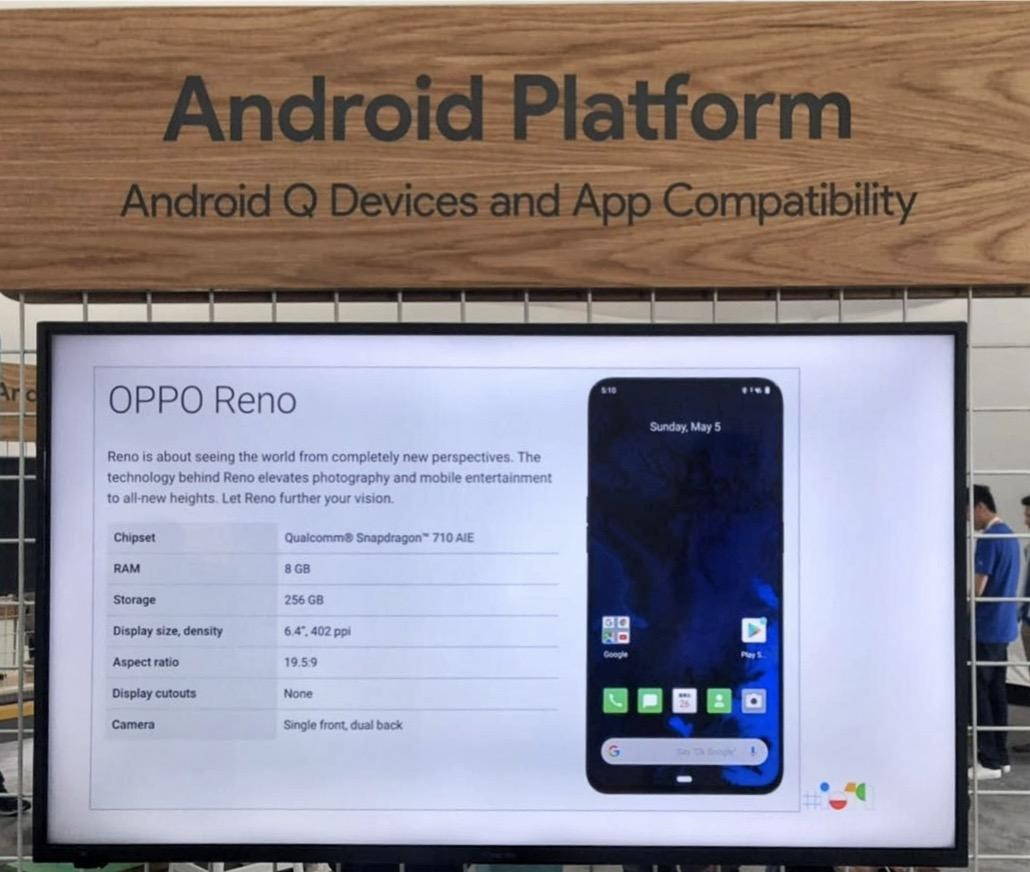 Android Platform Android Q beta (Oppo reno 5G)