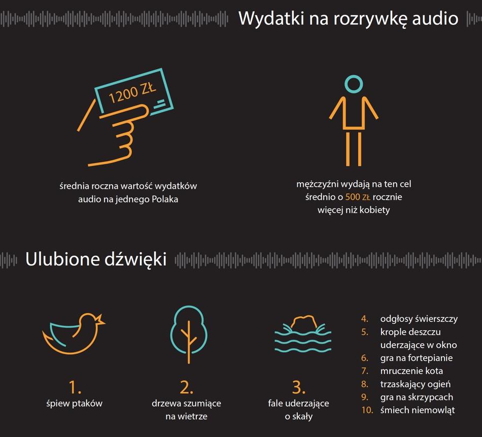 Wydatki na rozrywkę audio w Polsce 2019