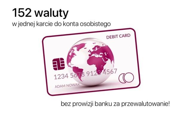 Klienci Alior Banku mogą płacić jedną kartą do konta w 152 walutach!
