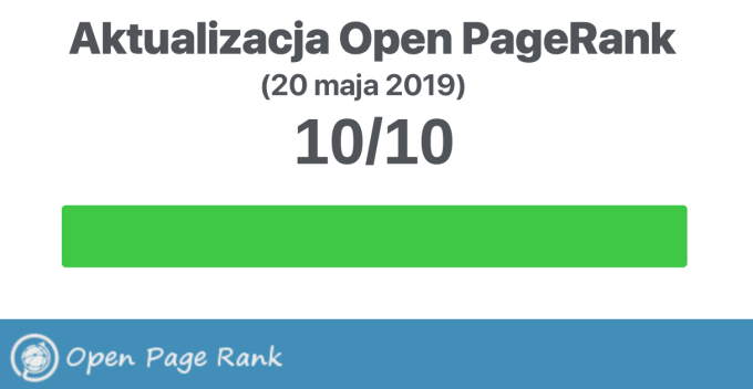 Aktualizacja Open PageRank (20 maja 2019)