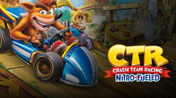 Grafika główna gry: Crash Team Racing: Nitro-Fueled
