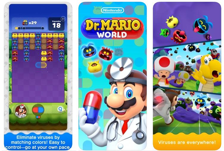 Dr. Mario World (screen)