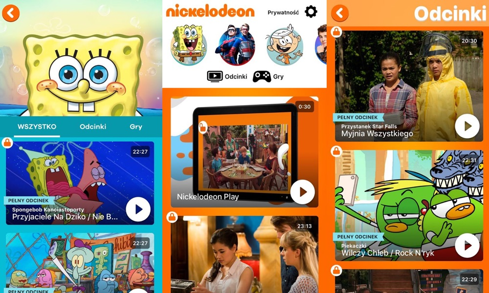 Zrzuty ekranu z aplikacji: Nickelodeon Play