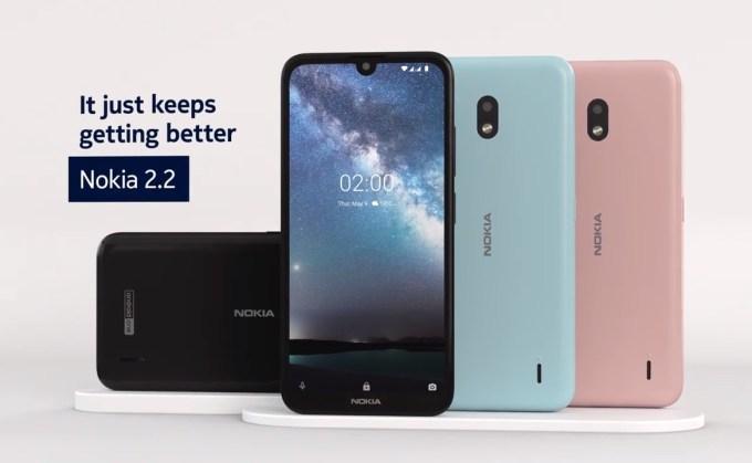Smartfon Nokia 2.2 z funkcjami AI