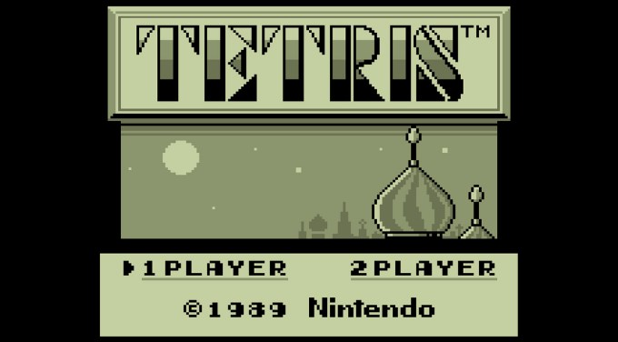 Tetris Game Boy Nintendo (1989) - screen