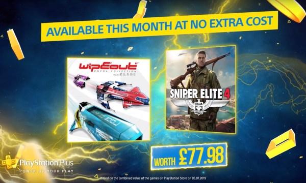 W sierpniowym PlayStation Plus zremasterowany WipeOut i Sniper Elite 4