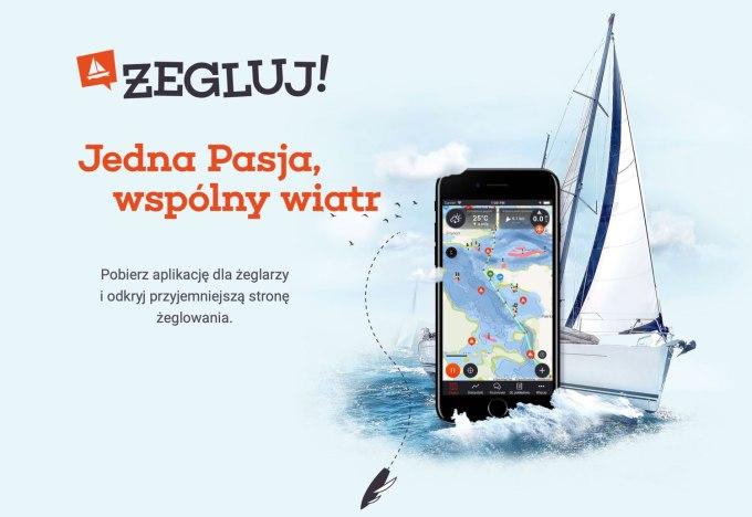 Aplikacja mobilna dla żeglarzy Żegluj