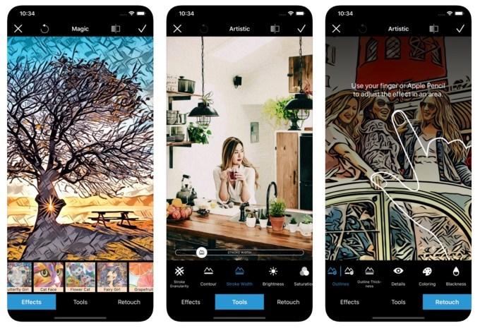 Zrzuty ekranu z aplikacji Becasso