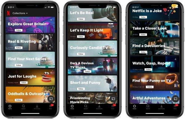 """Netflix testuje nową funkcję """"Kolekcje"""" z proponowanymi treściami"""