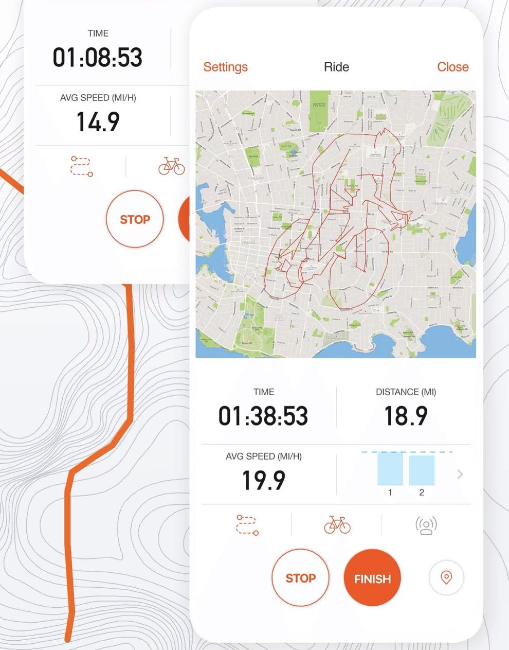 Zrzut ekranu z aplikacji Strava
