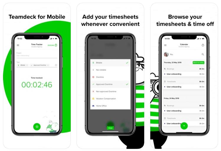 Teamdeck (screen aplikacji)
