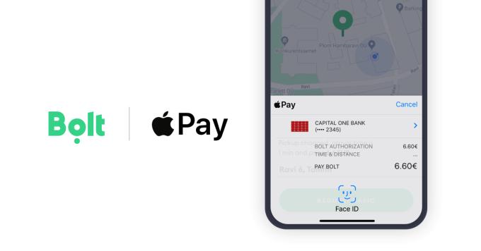 Apple Pay w aplikacji Bolt