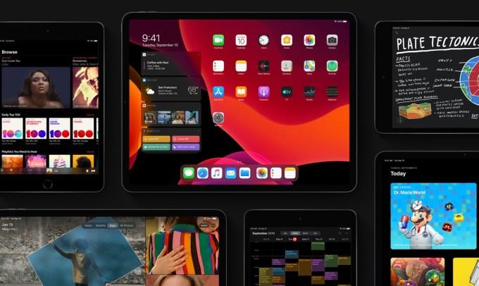 Zrzuty ekranu z systemu iPadOS 13
