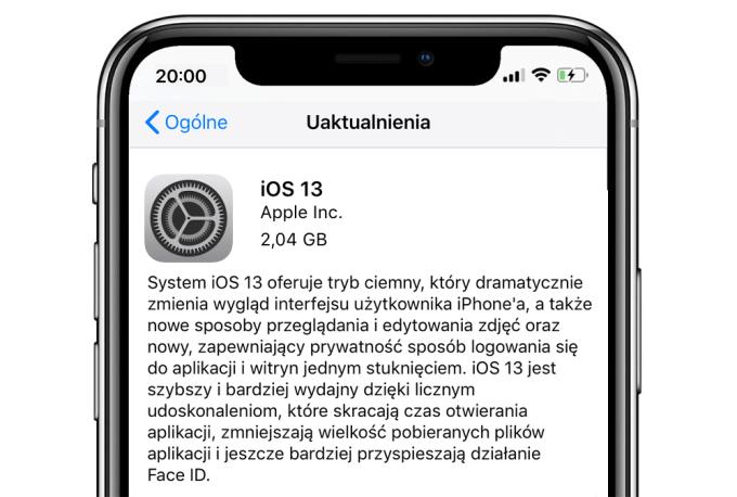 iOS 13 OTA update