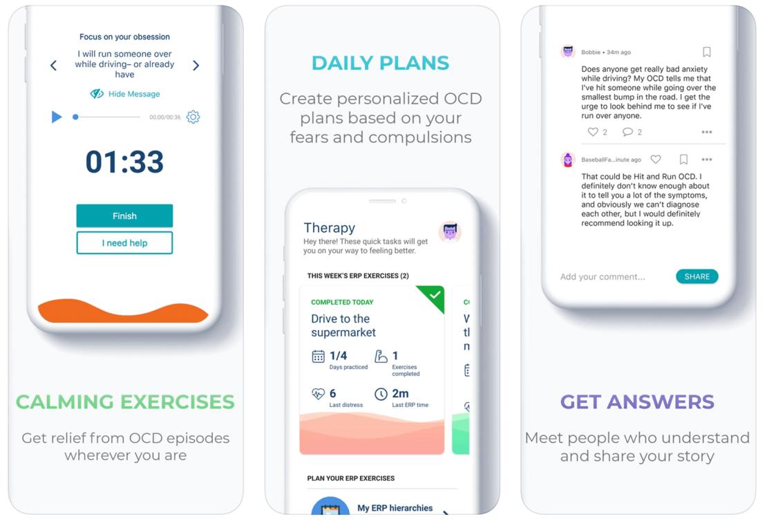 Zrzuty ekranu z aplikacji NOCD
