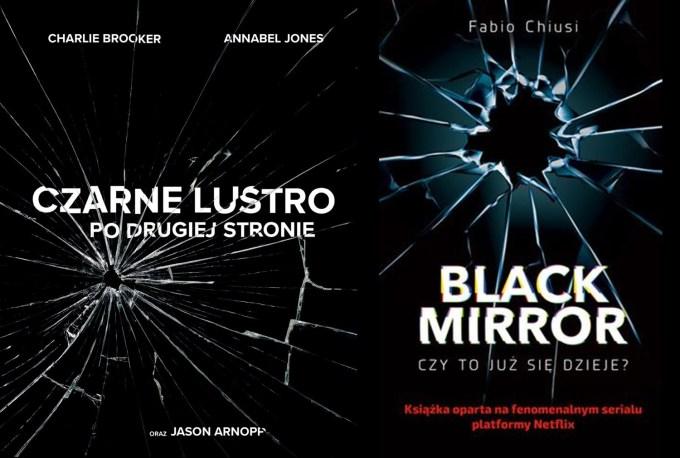"""Okładki książek o serialu """"Czarne lustro"""""""