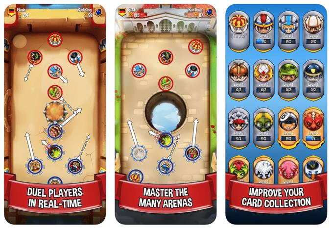 Zrzuty ekranu z aplikacji Flick Arena