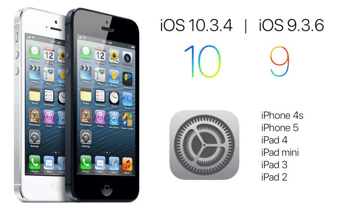 Uaktualnienia iOS 10.3.4 oraz iOS 9.3.6
