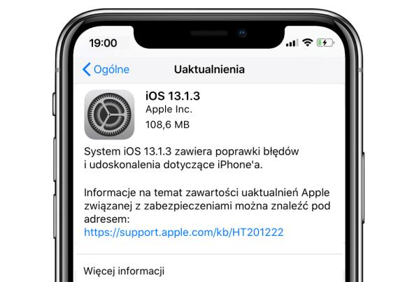 iOS 13.1.3 oraz iPadOS 13.1.3 dostępne do pobrania