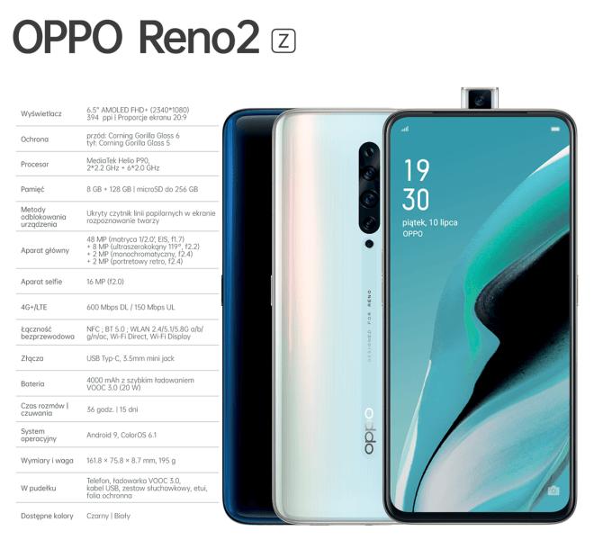 Specyfikacja techniczna Oppo Reno2 z