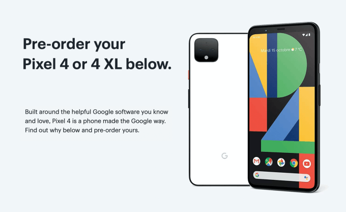Pixel 4 i Pixel 4 XL pre-order na Best Buy Canada