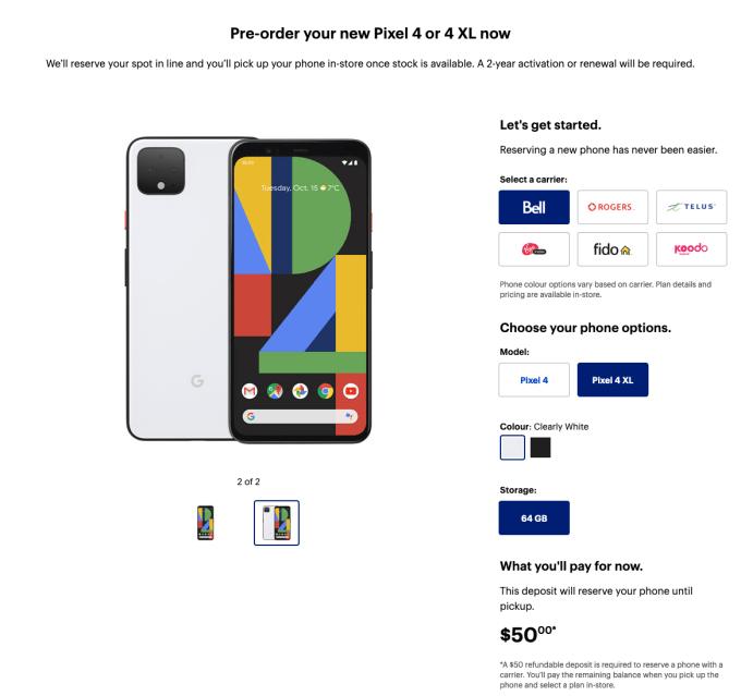 Pixel 4 i Pixel 4 XL - pre-order w Best Buy