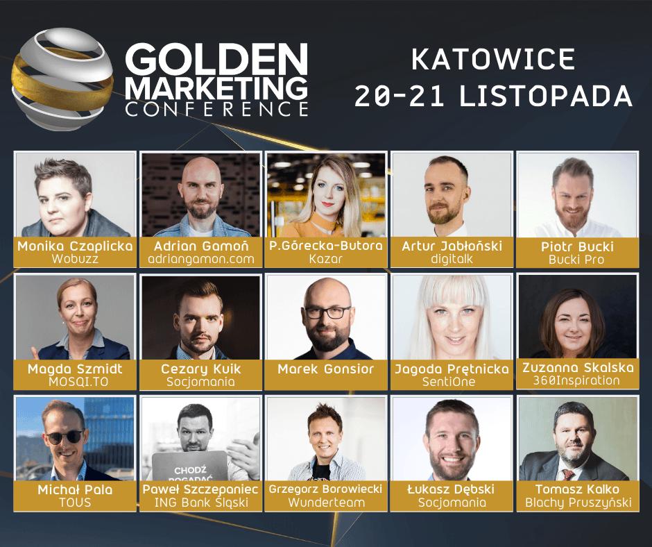 Golden Marketing Conference w Katowicach (prelegenci)