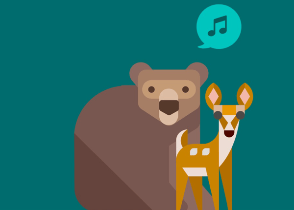 Użyj dźwięków lasu do własnych utworów w SoundForest!