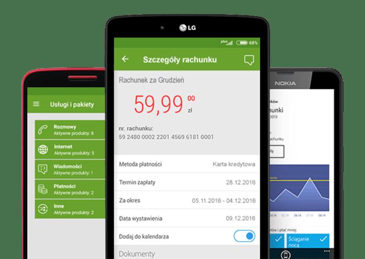 Aplikacja mobilna Plus Online (zrzuty ekranów)