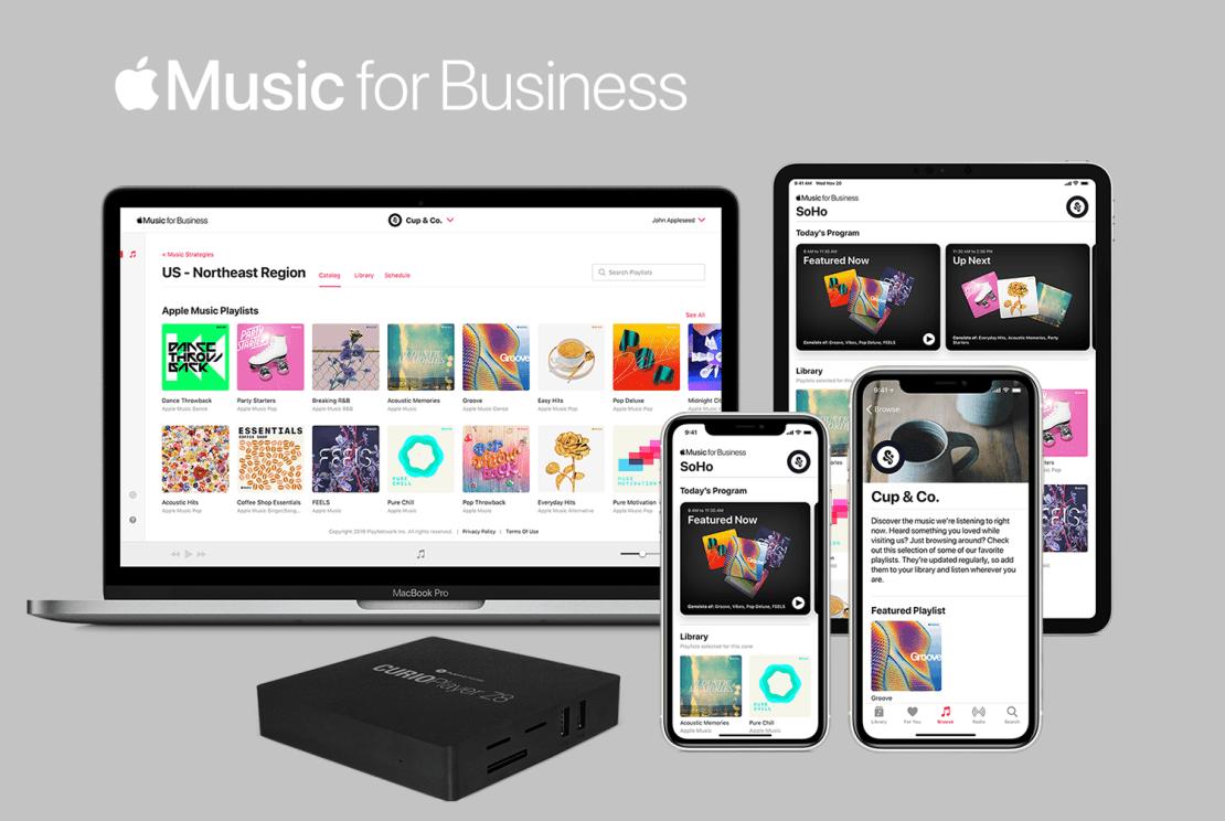 Apple Music for Business na urządzeniach firmy Apple
