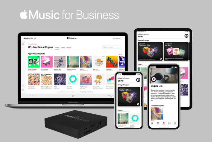Apple Music for Business na urządzeniach firmy Apple