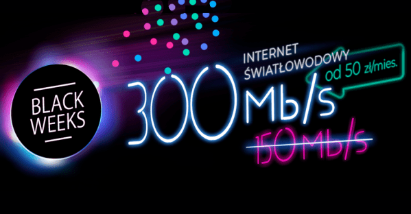 Internet 300 Mb/s od Netii w supercenie na Black Week