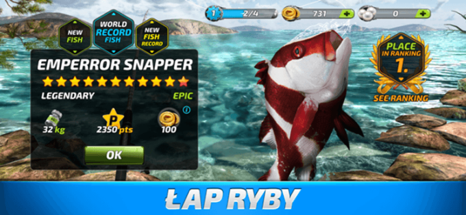 Łap ryby w grze Fishing Clash