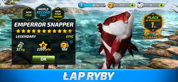 Łap ryby w grze Fishing Clash