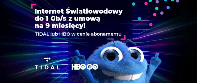 Internet światłowodowy Netia z HBO GO lub TIDAL