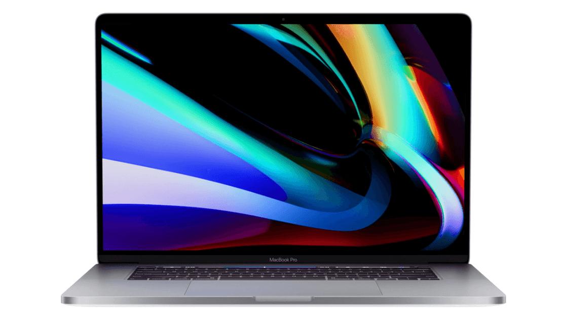 Nowy macbook Pro 16 cali (widok z przodu)