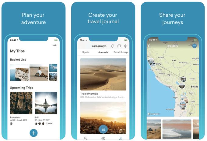 """Zrzuty ekranu z aplikacji """"Mapify - Your Trip Planner"""""""