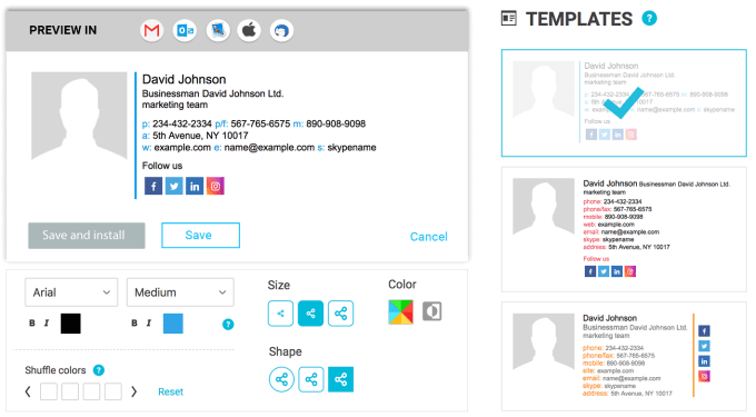 Newoldstamp - generator podpisów e-mail online
