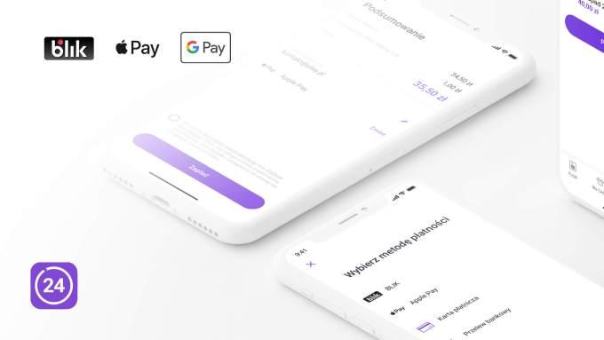 Płatności za faktury w Play24 za pomocą Apple Pay, Google Pay, BLIK