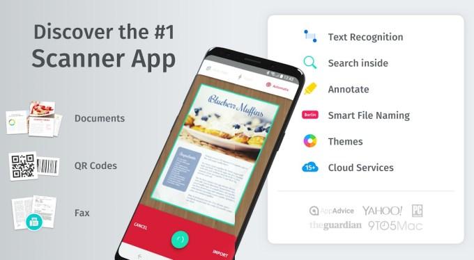 Aplikacja mobilna Scanbot
