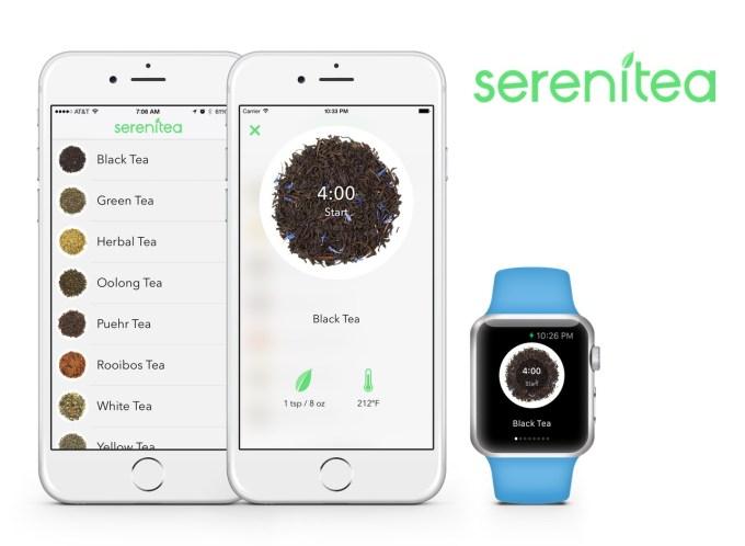 Aplikacja mobilna Serenitea dla parzących herbatę